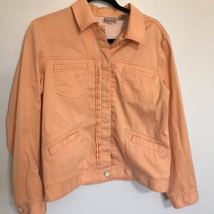 Chico's peach button down jacket